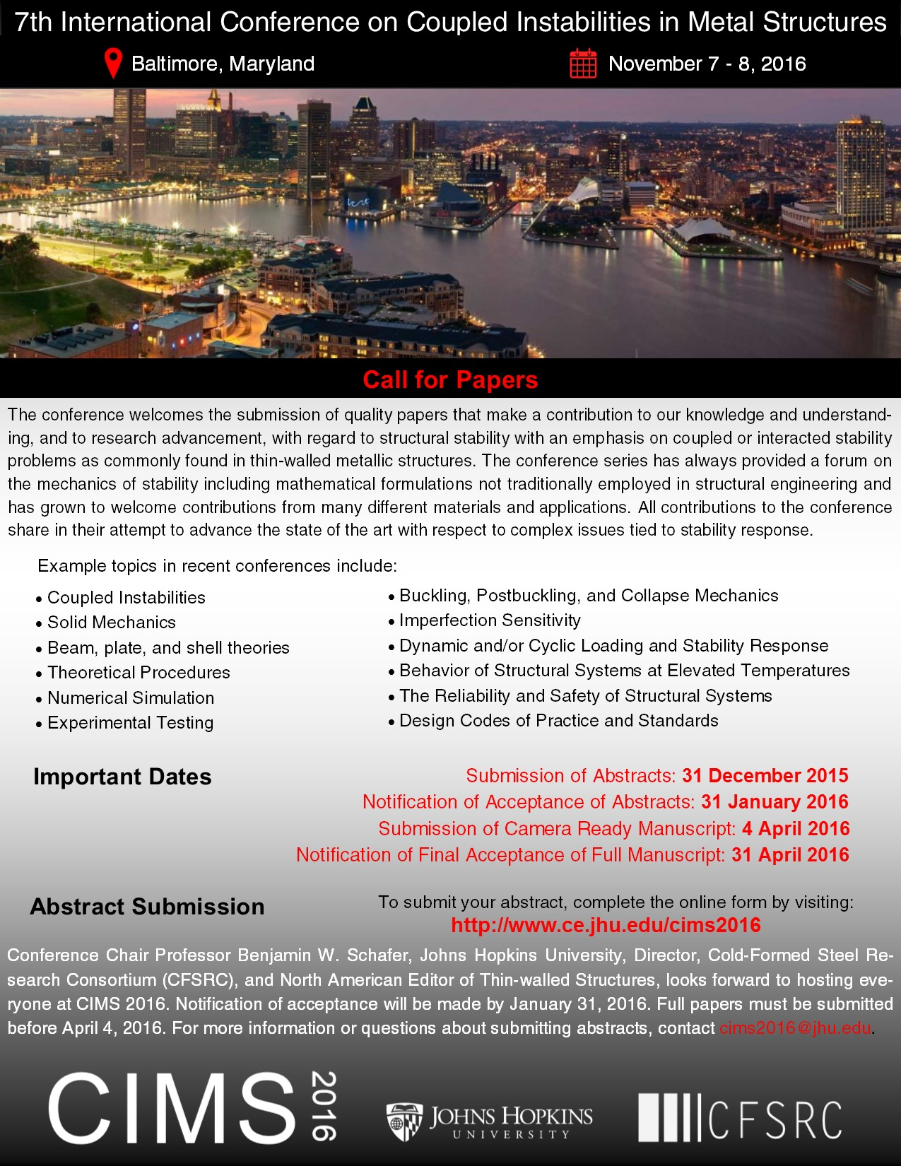 CIMS 2016 call for papers